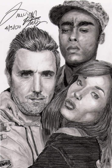 Rachel Luttrell, Paul McGillion, Rainbow Sun Francks by amie-black